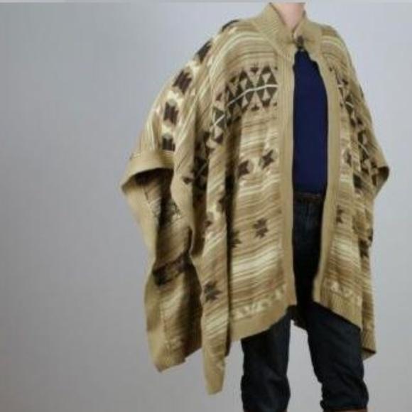 Ralph Lauren Navajo Indian Blanket Poncho Cape